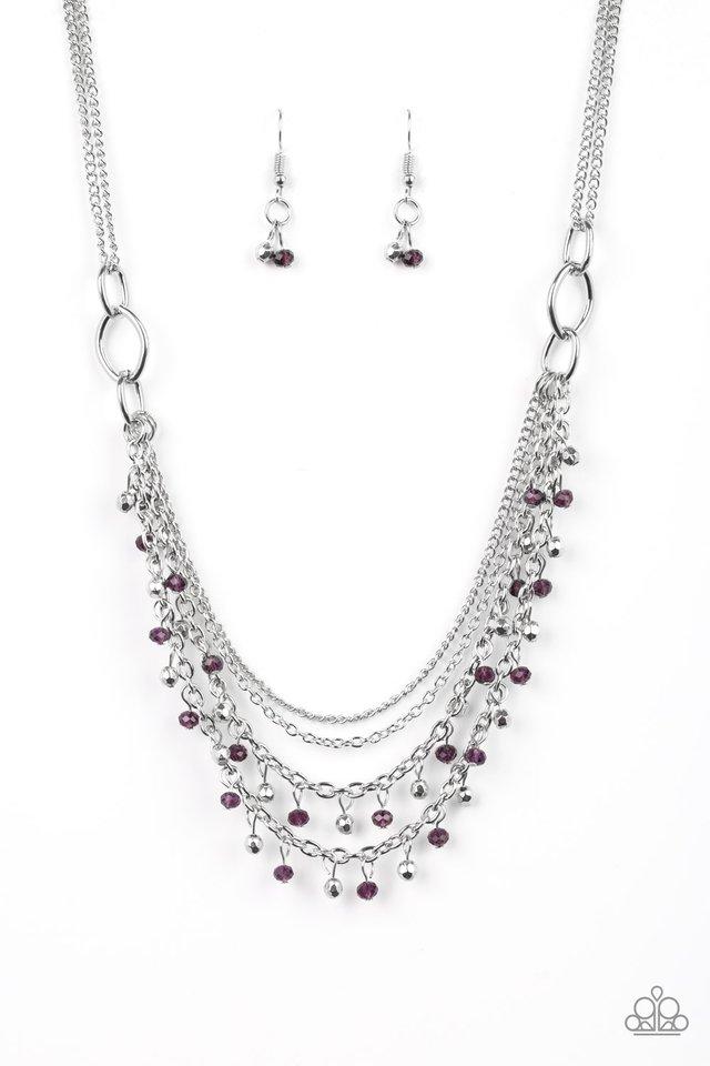 Financially Fabulous - Purple - Paparazzi Necklace Image