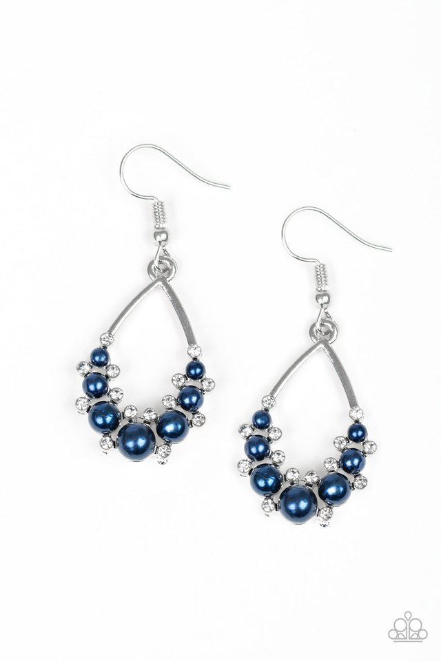 Fancy First - Blue - Paparazzi Earring Image