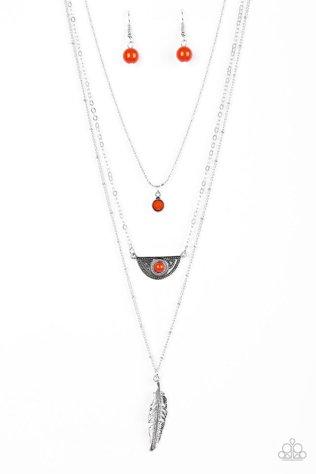 Sahara Sparrow - Orange - Paparazzi Necklace Image