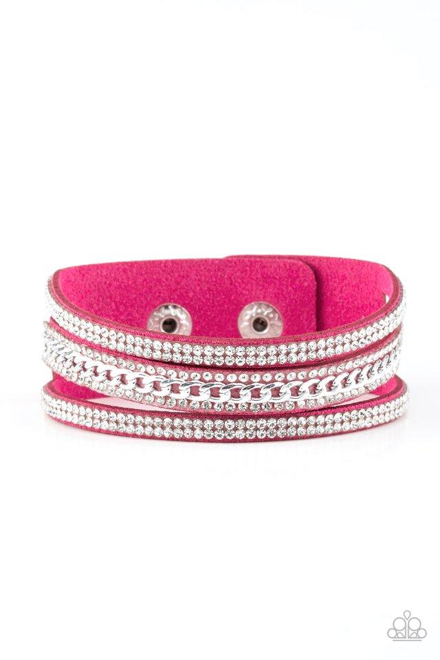 Rollin In Rhinestones - Pink - Paparazzi Bracelet Image