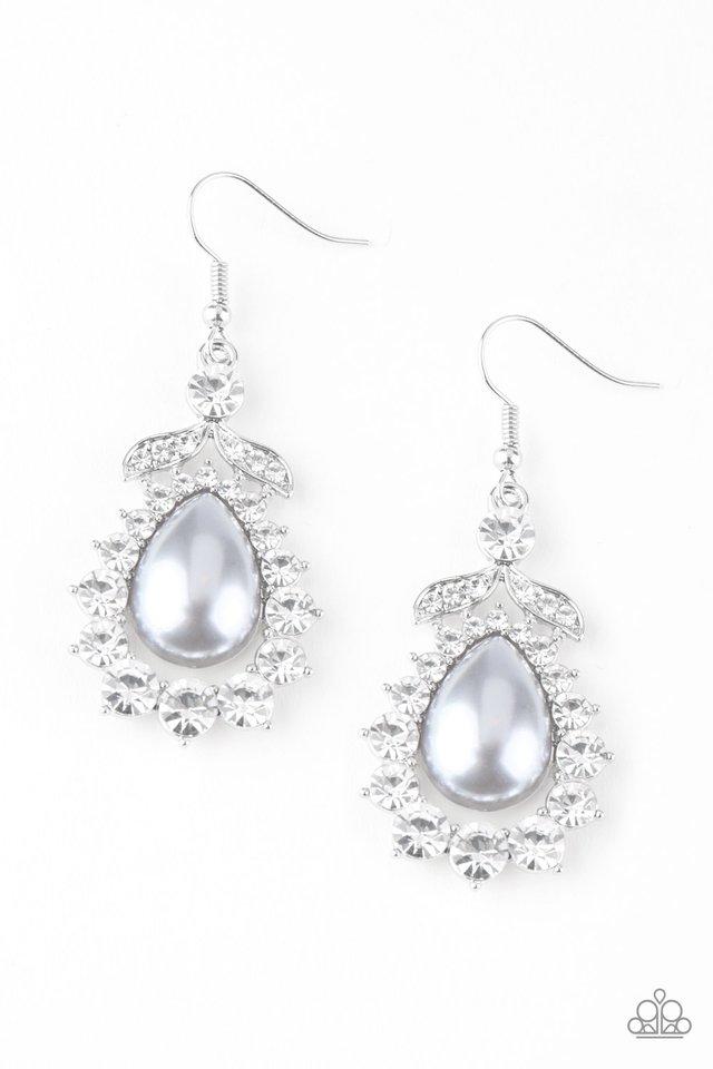 Award Winning Shimmer - Silver - Paparazzi Earring Image
