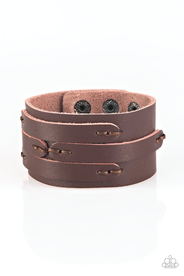 In or OUTLAW - Brown - Paparazzi Bracelet Image