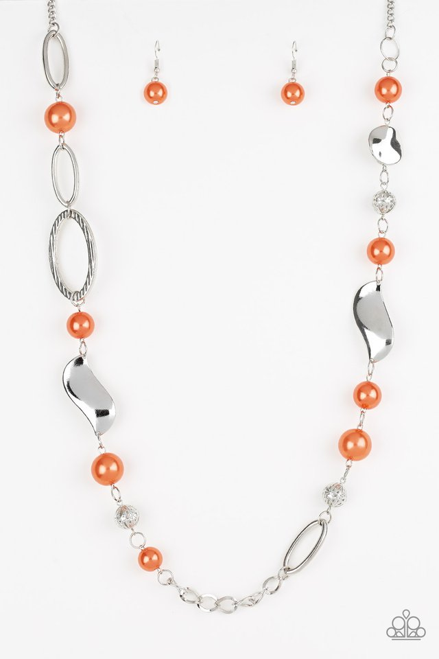 All About Me - Orange - Paparazzi Necklace Image