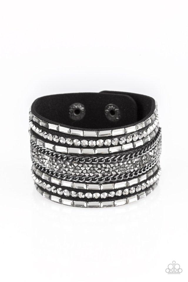 Rhinestone Rumble - Black - Paparazzi Bracelet Image