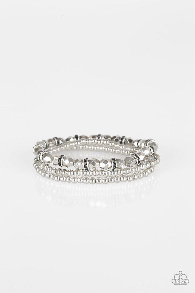 Let There BEAM Light - Silver - Paparazzi Bracelet Image