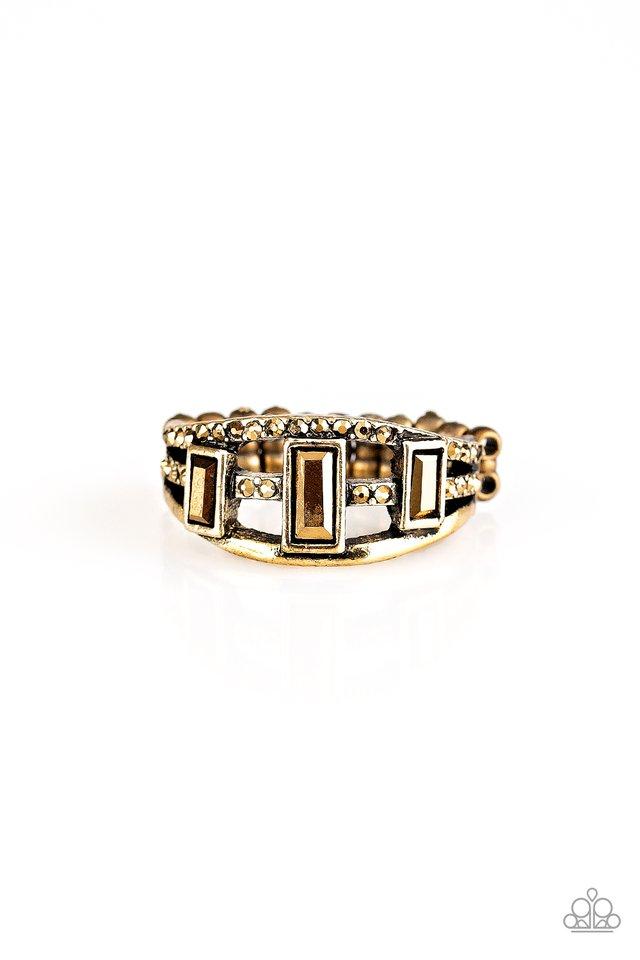 Noble Nova - Brass - Paparazzi Ring Image