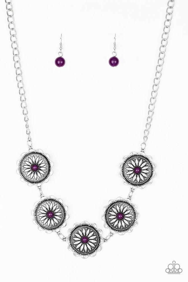Me-dallions, Myself, and I - Purple - Paparazzi Necklace Image