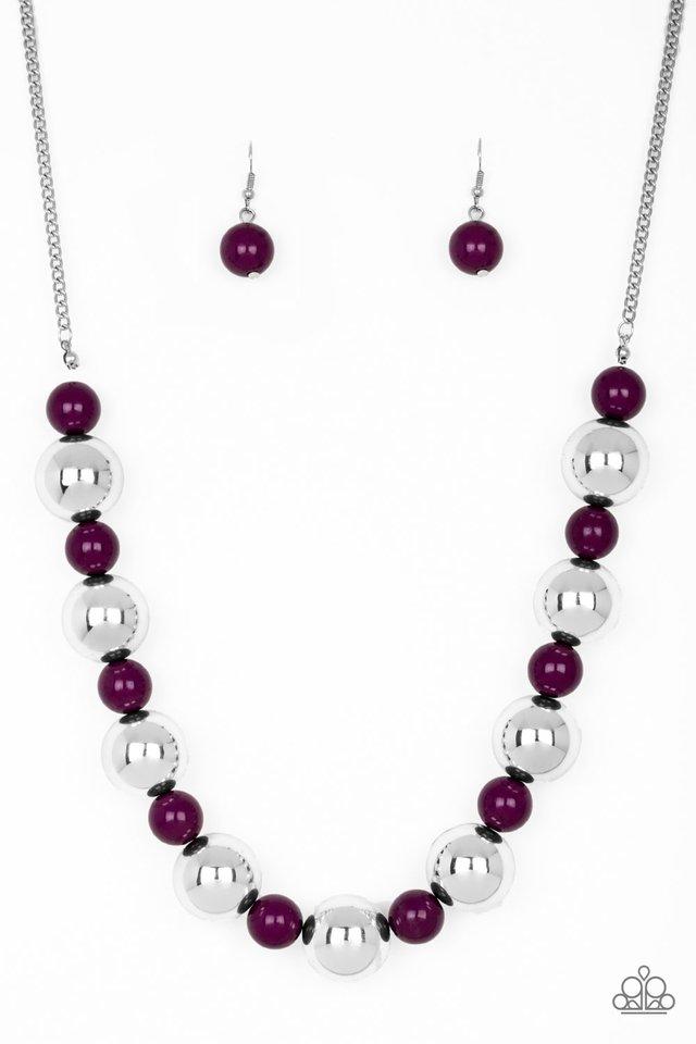 Top Pop - Purple - Paparazzi Necklace Image
