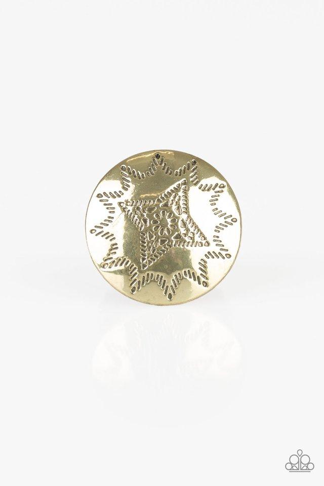 Rural Radius - Brass - Paparazzi Ring Image