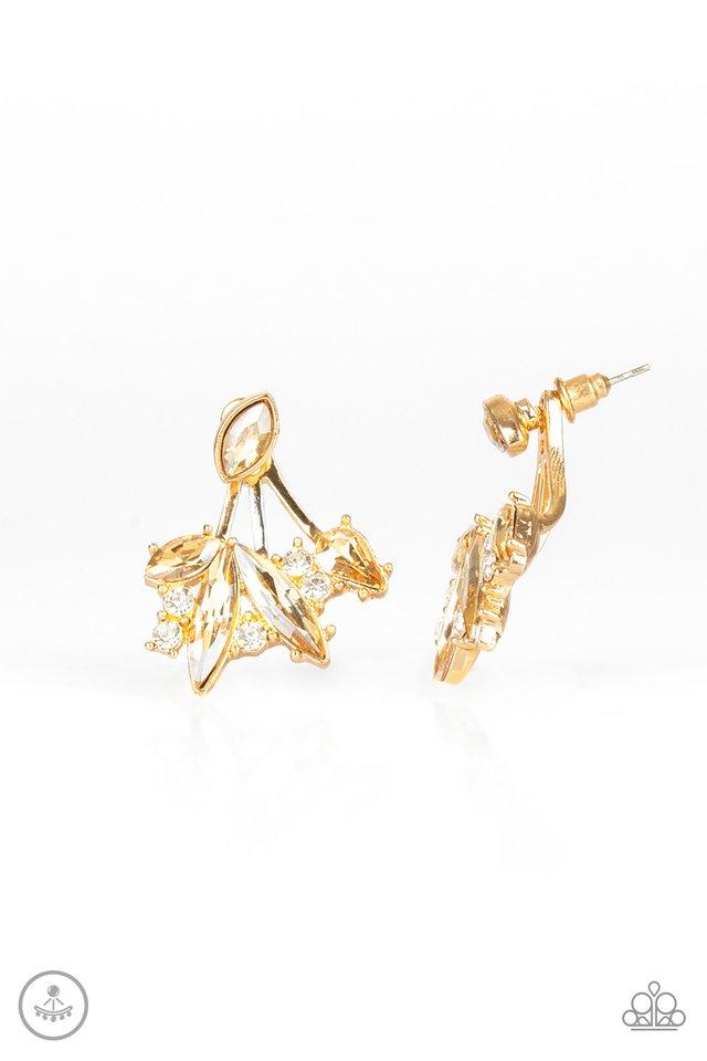 Deco Dynamite - Gold - Paparazzi Earring Image