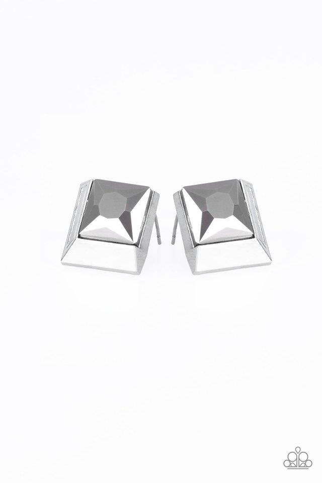Stellar Square - Silver - Paparazzi Earring Image