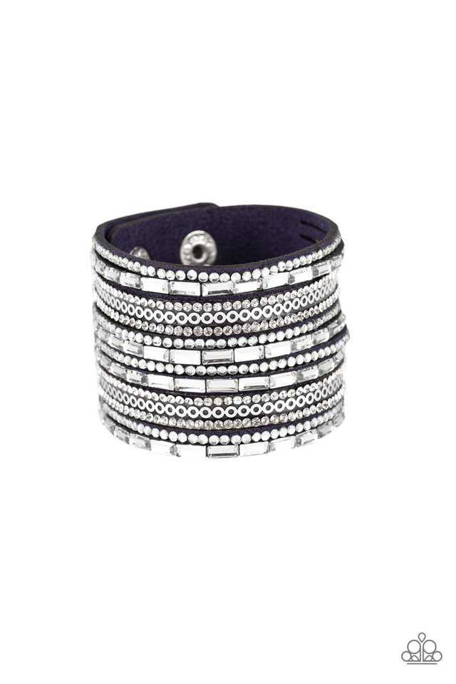A Wait-and-SEQUIN Attitude - Blue - Paparazzi Bracelet Image