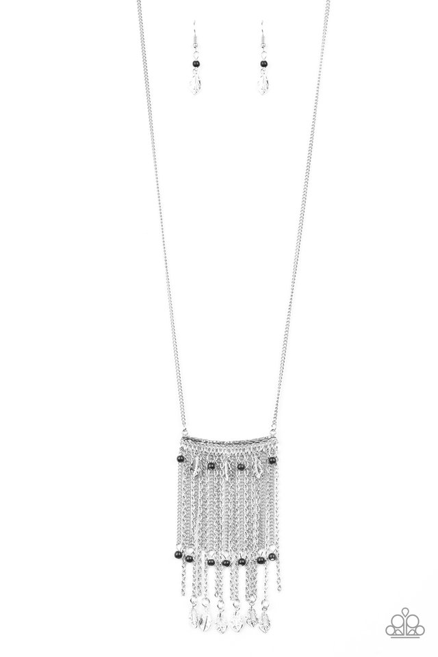 On The Fly - Black - Paparazzi Necklace Image