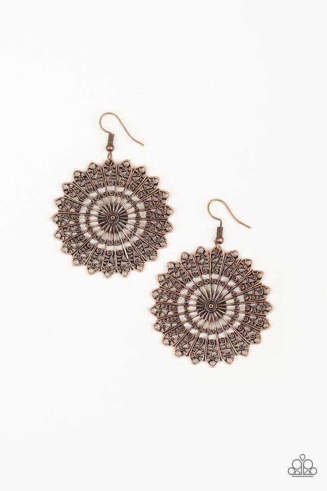 Globetrotting Guru - Copper - Paparazzi Earring Image