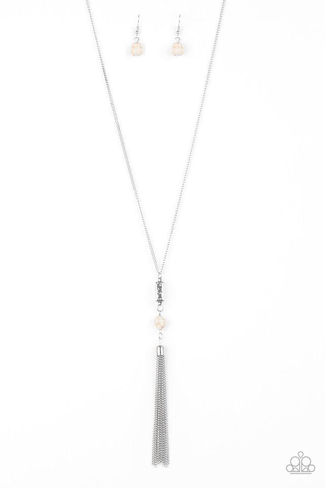 Wild Horse Wonder - White - Paparazzi Necklace Image
