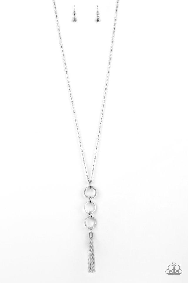 Diva In Diamonds - White - Paparazzi Necklace Image