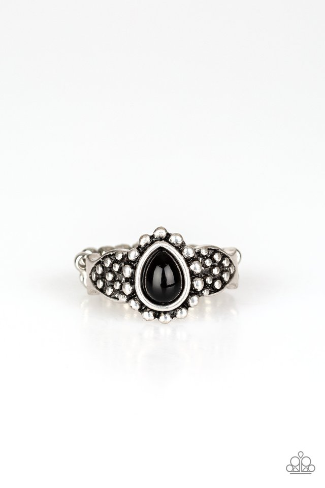 Pep Talk - Black - Paparazzi Ring Image