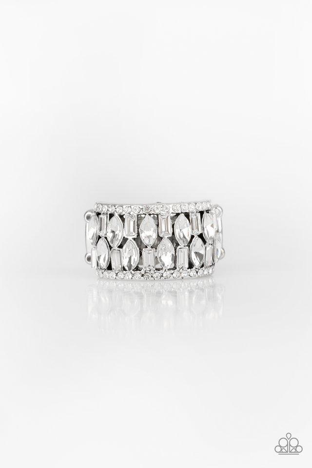 Treasure Trove Tribute - White - Paparazzi Ring Image