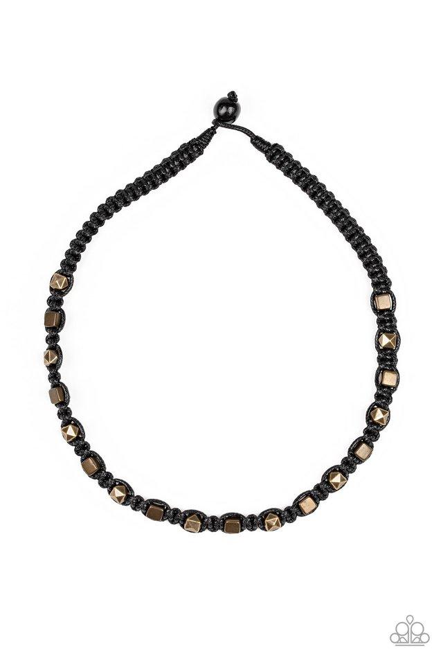 Grunge Rush - Black - Paparazzi Necklace Image