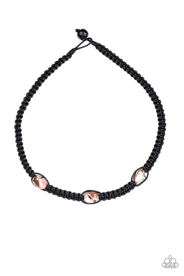 RIDERS Block - Copper - Paparazzi Necklace Image