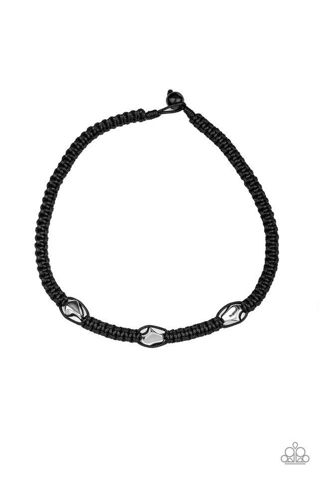 RIDERS Block - Black - Paparazzi Necklace Image
