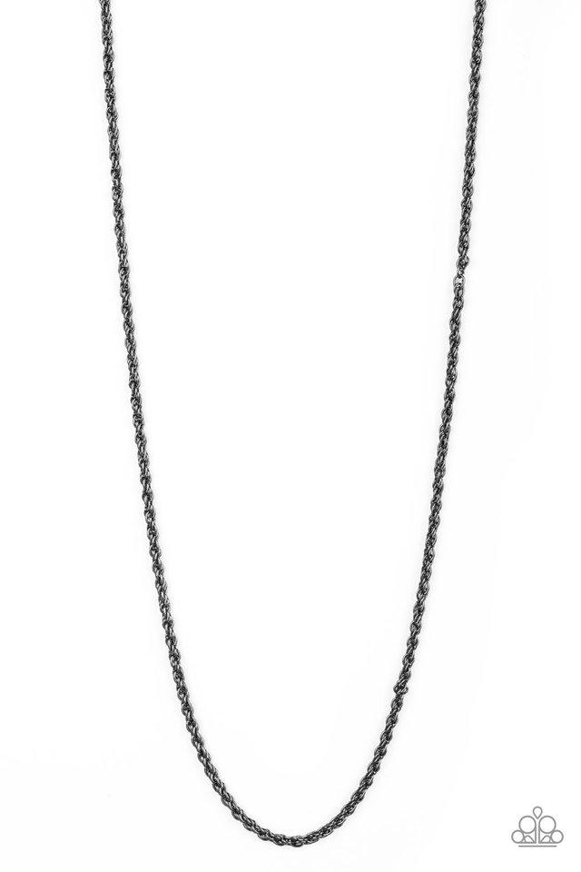 The Go-To Guy - Black - Paparazzi Necklace Image