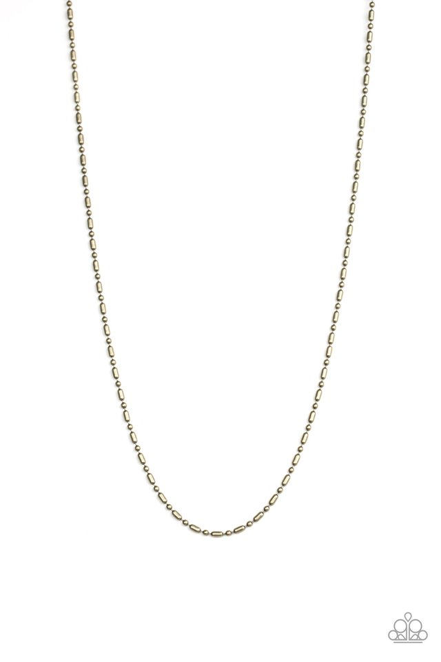 Covert Operation - Brass - Paparazzi Necklace Image