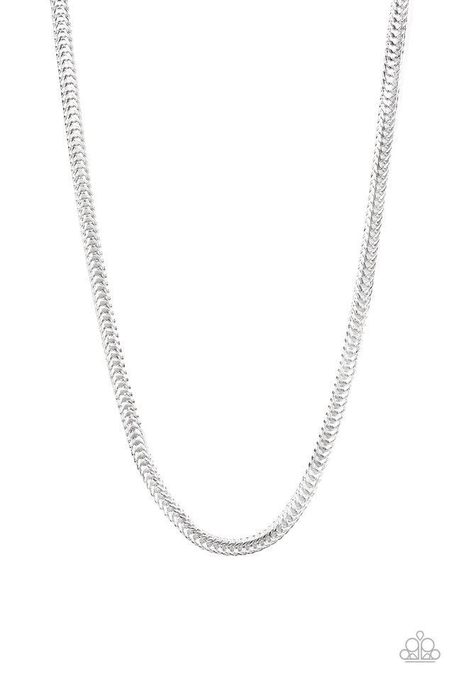 Knockout King - Silver - Paparazzi Necklace Image