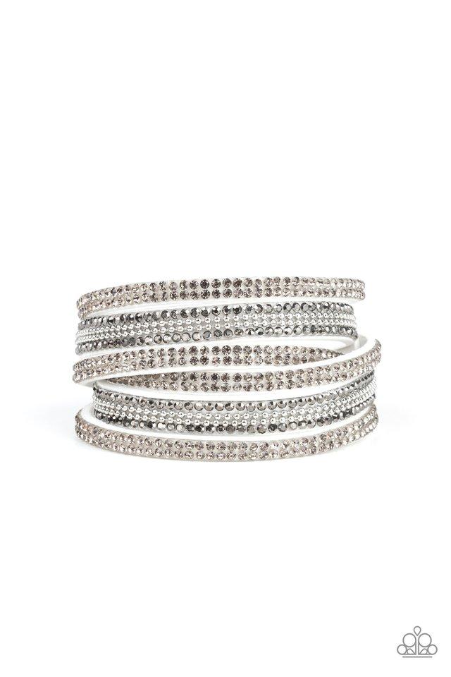 Royal Razzle - White - Paparazzi Bracelet Image