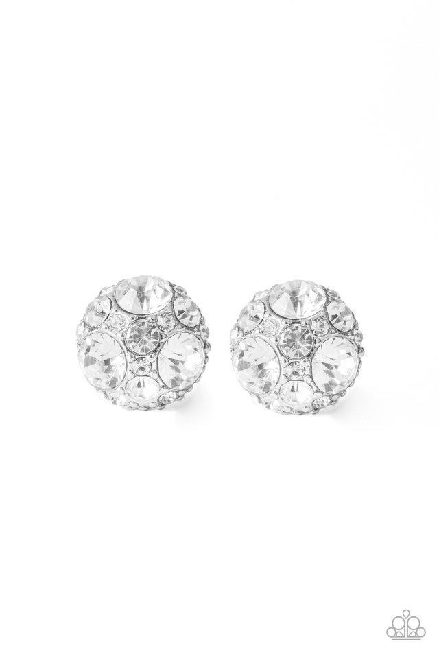 Diamond Daze - White - Paparazzi Earring Image