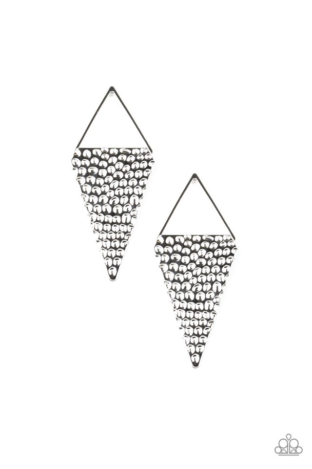 Have A Bite - Silver - Paparazzi Earring Image