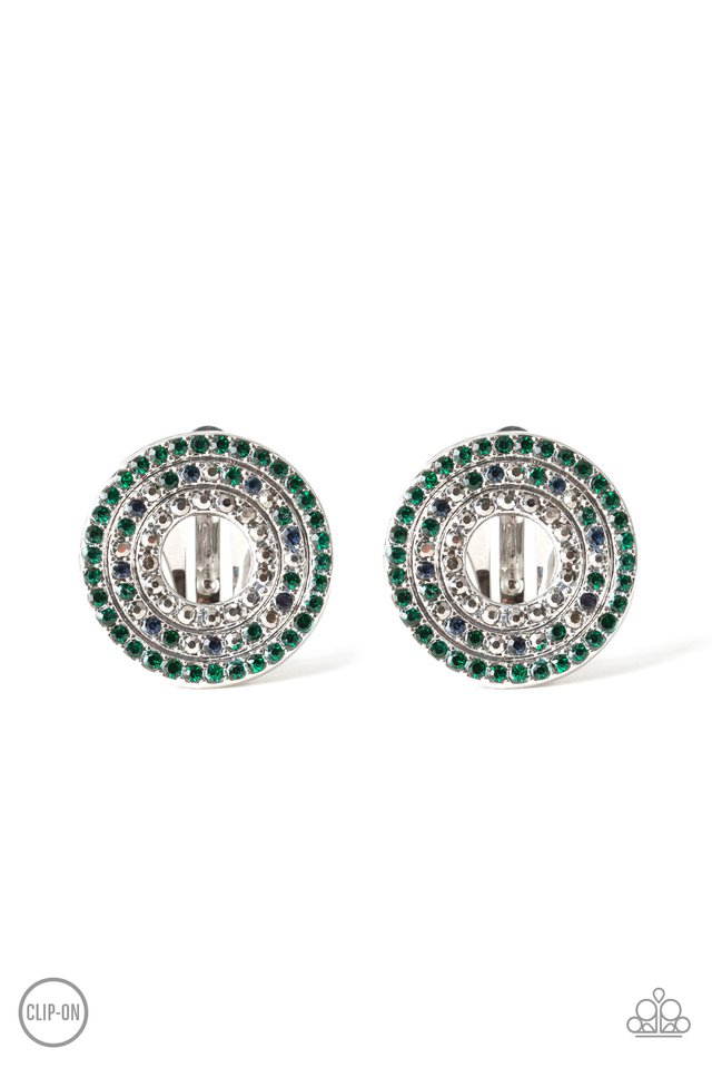 Spun Out On Shimmer - Multi - Paparazzi Earring Image