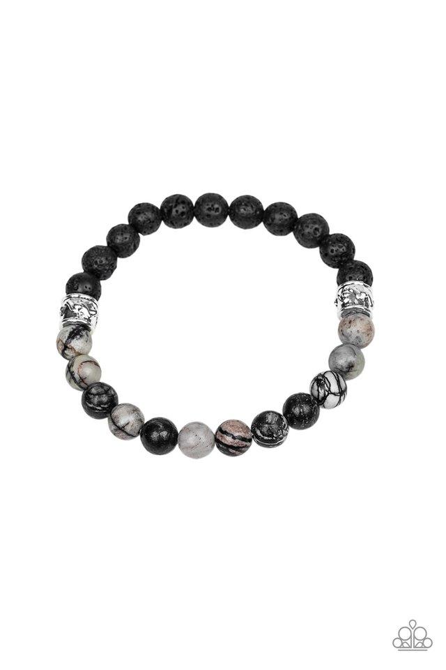 Tuned In - Silver - Paparazzi Bracelet Image