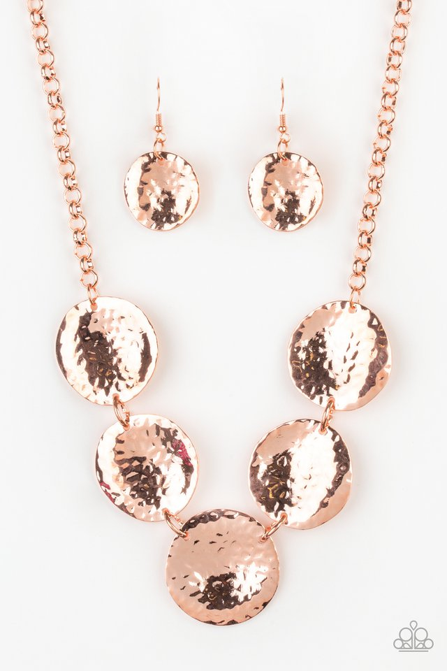 First Impressions - Copper - Paparazzi Necklace Image