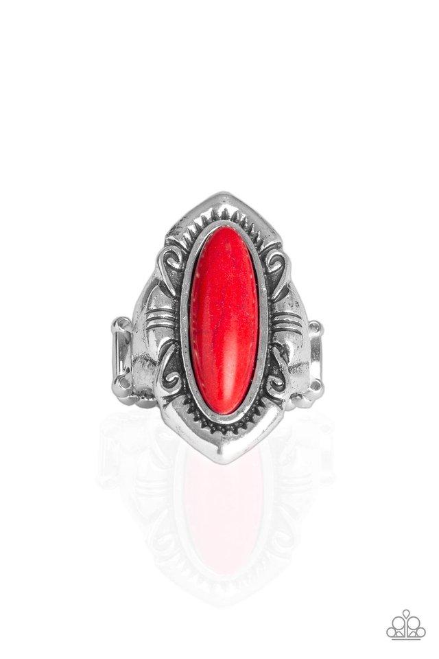 Santa Fe Serenity - Red - Paparazzi Ring Image