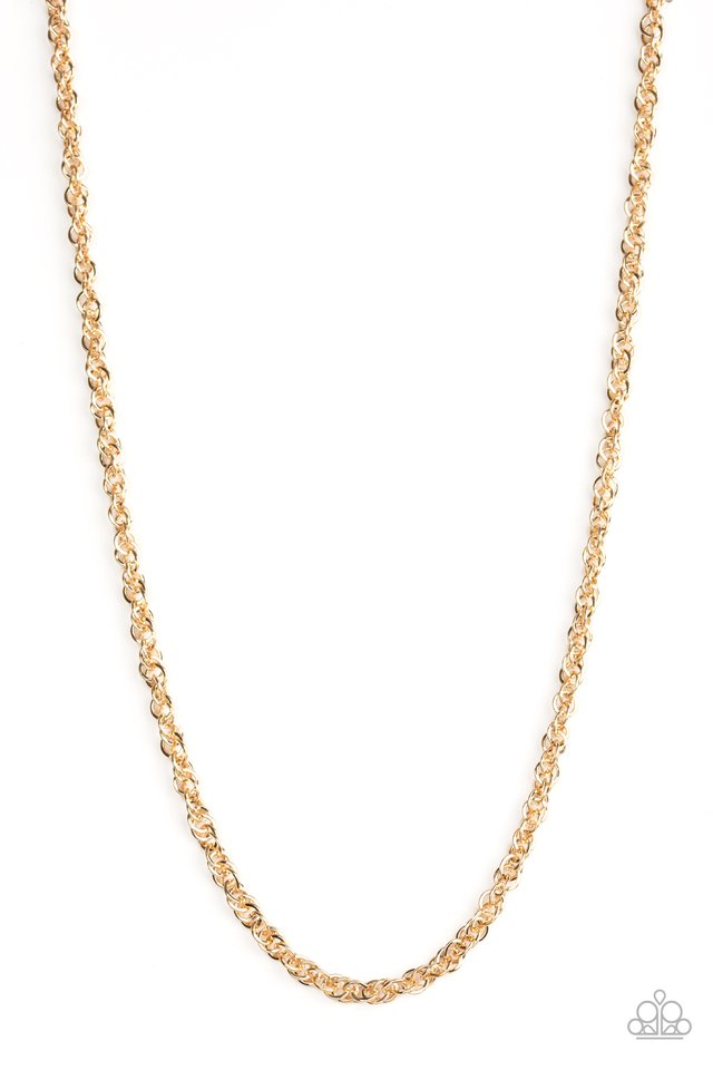 Lightweight Division - Gold - Paparazzi Necklace Image