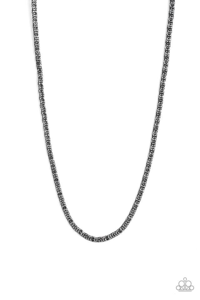 Go Down Fighting - Black - Paparazzi Necklace Image