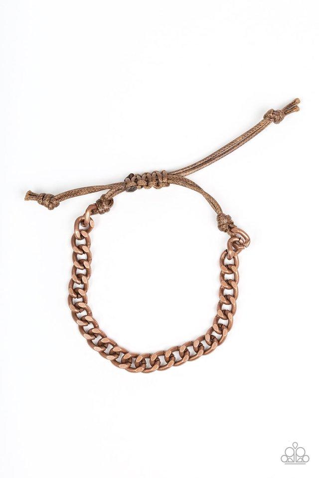 Tiebreaker - Copper - Paparazzi Bracelet Image