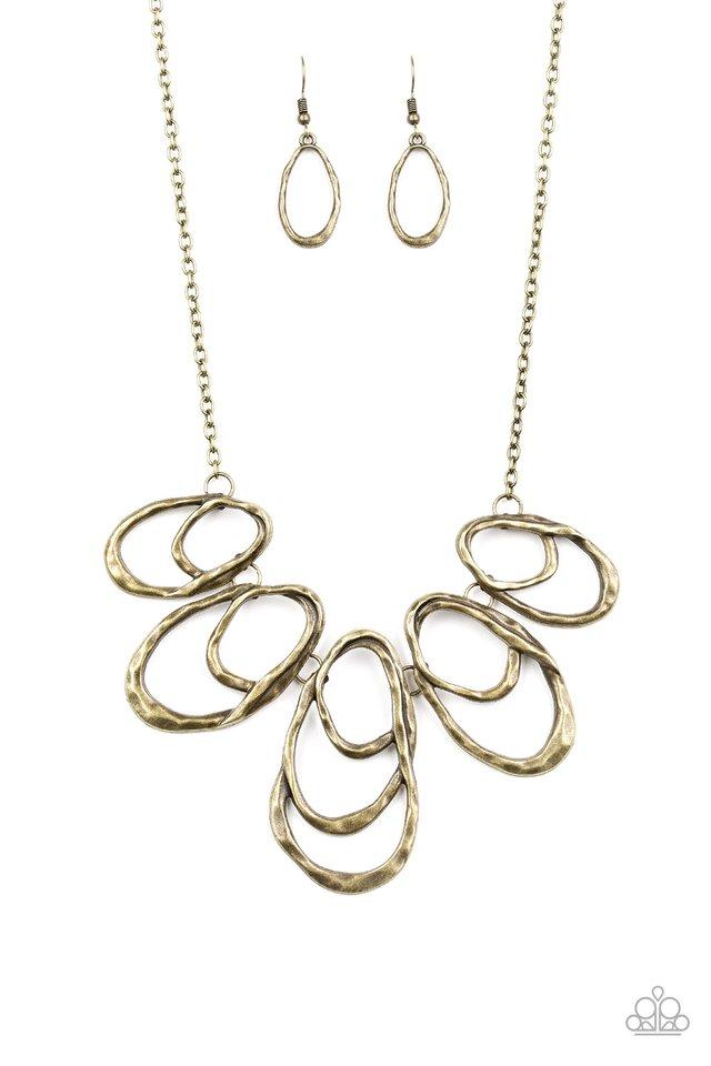 Terra Storm - Brass - Paparazzi Necklace Image