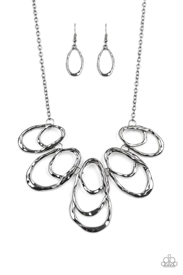 Terra Storm - Black - Paparazzi Necklace Image