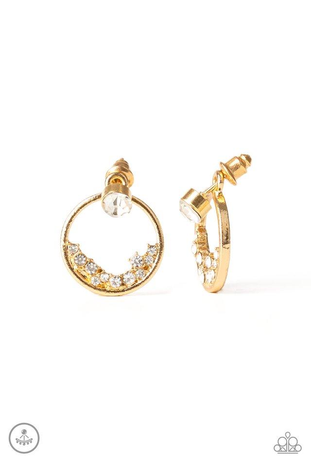 Rich Blitz - Gold - Paparazzi Earring Image