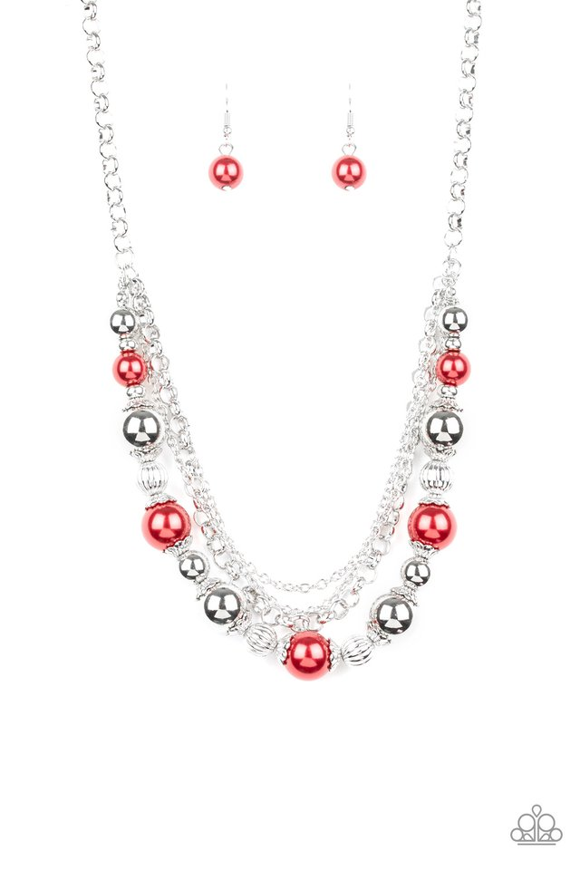 5th Avenue Romance - Red - Paparazzi Necklace Image