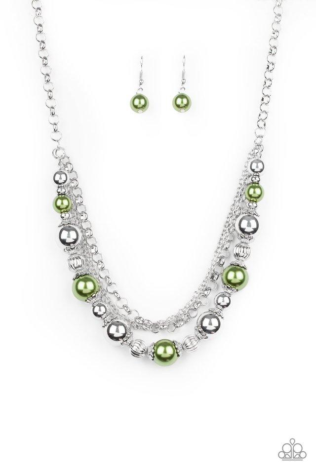 5th Avenue Romance - Green - Paparazzi Necklace Image
