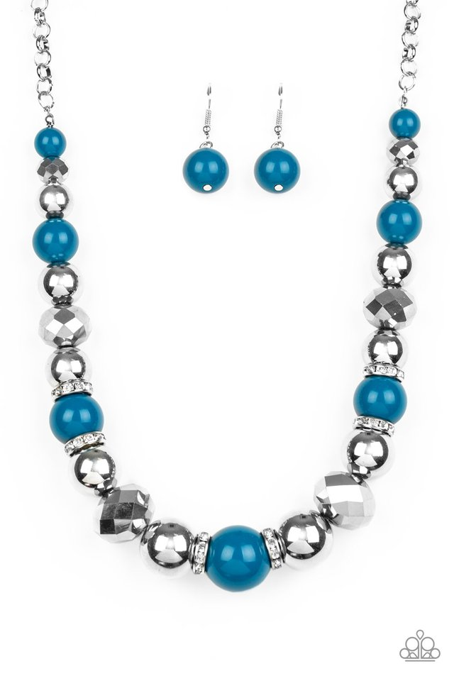 Weekend Party - Blue - Paparazzi Necklace Image