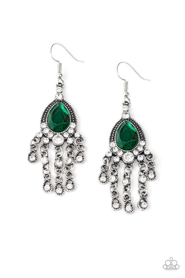 Bling Bliss - Green - Paparazzi Earring Image