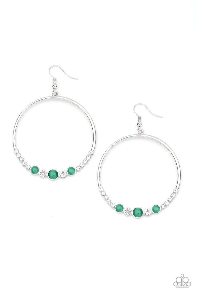Dancing Radiance - Green - Paparazzi Earring Image
