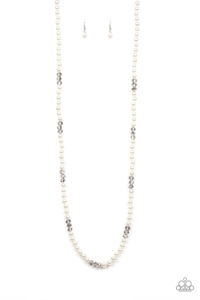 Girls Have More FUNDS - White - Paparazzi Necklace Image