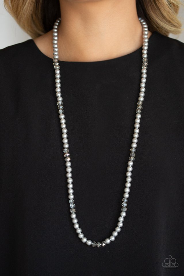 Girls Have More FUNDS - Silver - Paparazzi Necklace Image