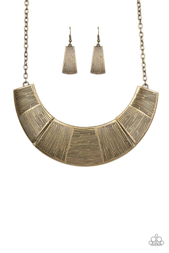 More Roar - Brass - Paparazzi Necklace Image