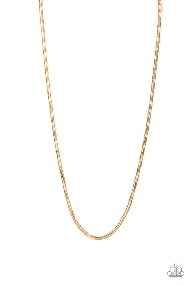 Victory Lap - Gold - Paparazzi Necklace Image